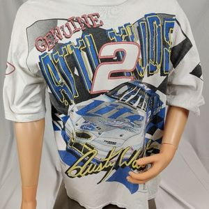 Rusty Wallace Vintage 1997 T-shirt XL RARE ALL OVE